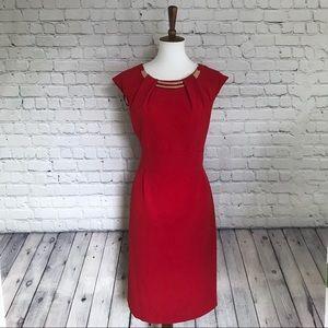 Dressbarn red and gold sheath dress